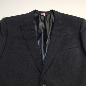 BROOKS BROTHERS Men's 44L Gray Sport Coat Blazer